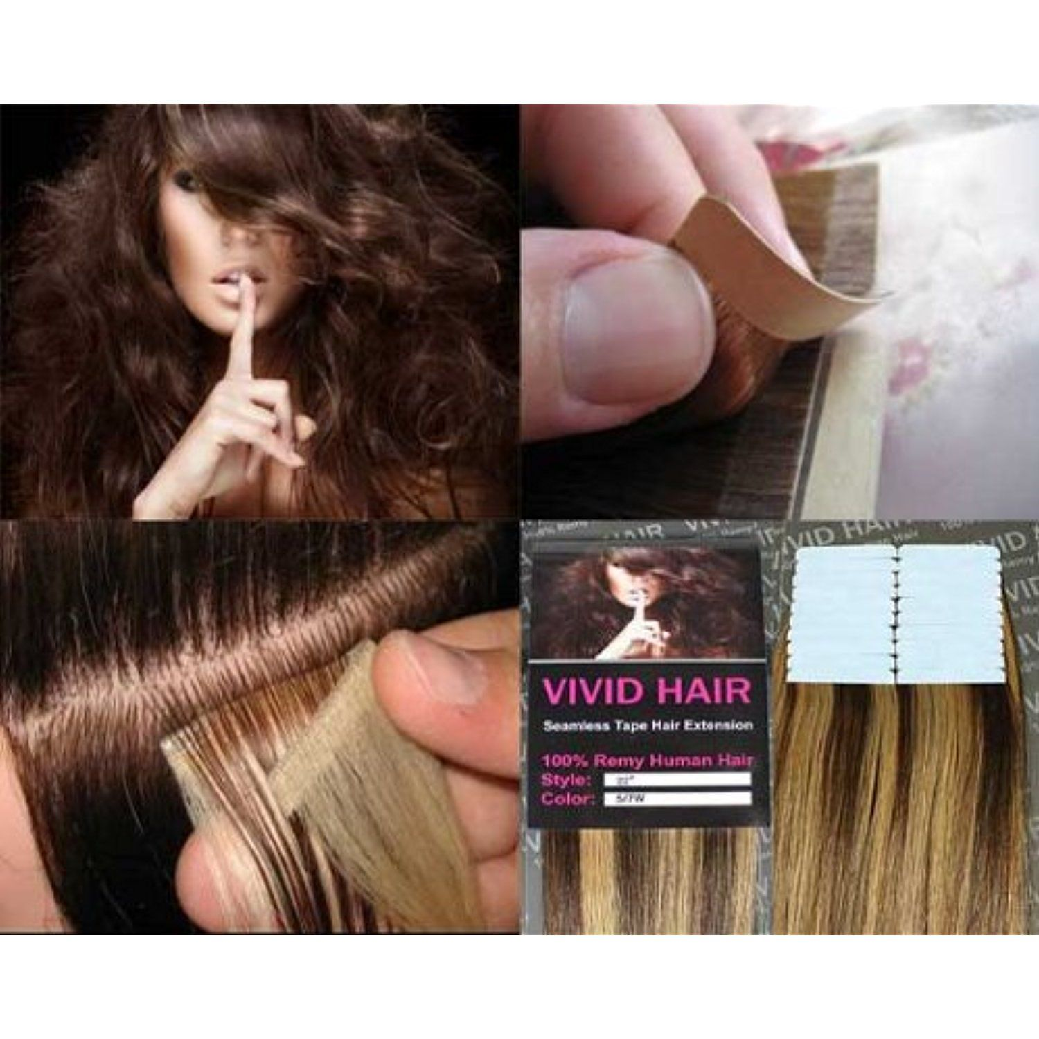 20 Pcs X 18 Inches Remy Seamless Tape Skin Weft Human Hair