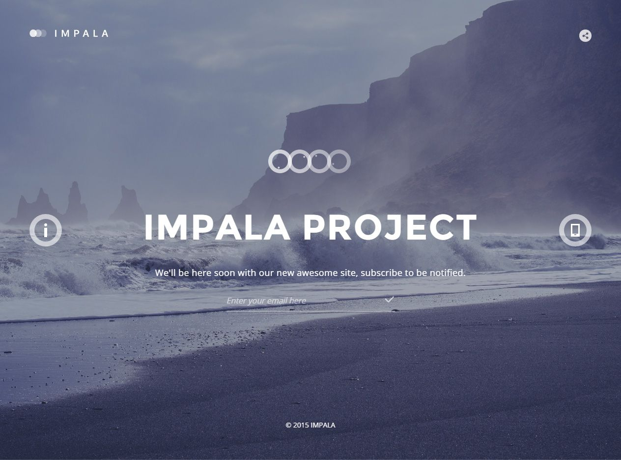 Impala is premium full responsive retina html5 comingsoon impala is premium full responsive retina html5 comingsoon template video background bootstrap3 pronofoot35fo Image collections