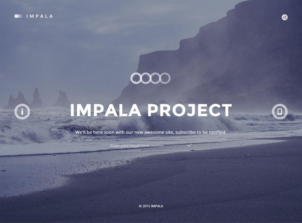 Impala - Premium Responsive Coming Soon HTML5 Template | Responsive ...
