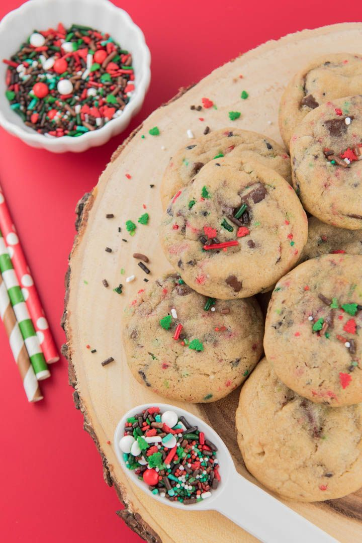Merry Bright Christmas Chocolate Chip Cookies Sweet Eats