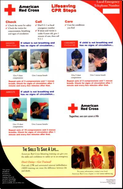 American Red Cross CPR/First Aid/AED Training Course