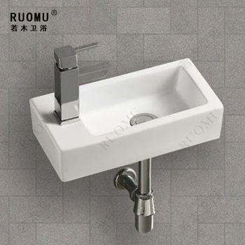 7 X 14 Bathroom Small Hanging Pots Wash Basin Art Sink Wall Hung Countertop Mini Washbasin