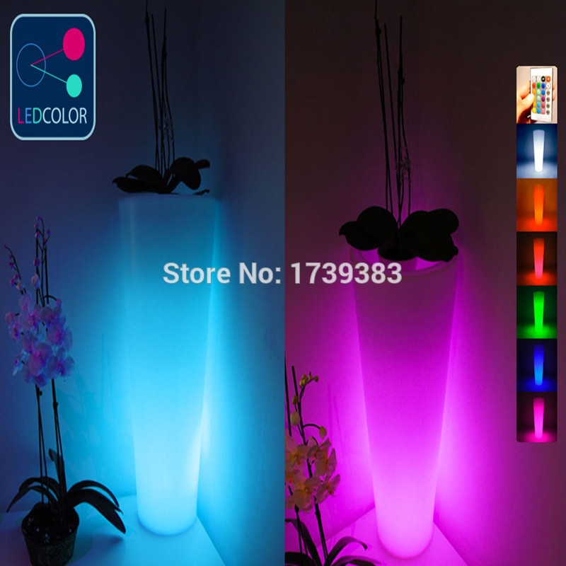 99.99$  Buy now - http://ali4t4.shopchina.info/go.php?t=32624619338 - Waterproof Wireless recharge remote control Multi color LED Luminous flower pot of illuminated furniture,glowing led plant pot 99.99$ #aliexpresschina