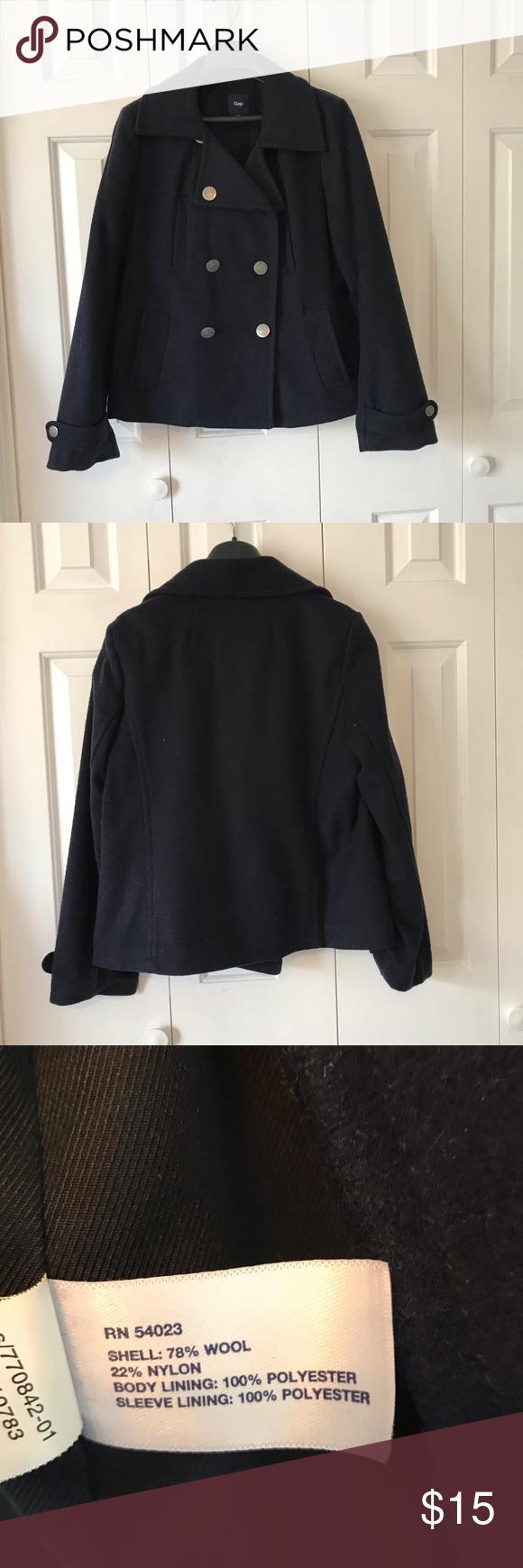 Gap Pea Coat Clothes Design Fashion Colorful Coat [ 1740 x 580 Pixel ]