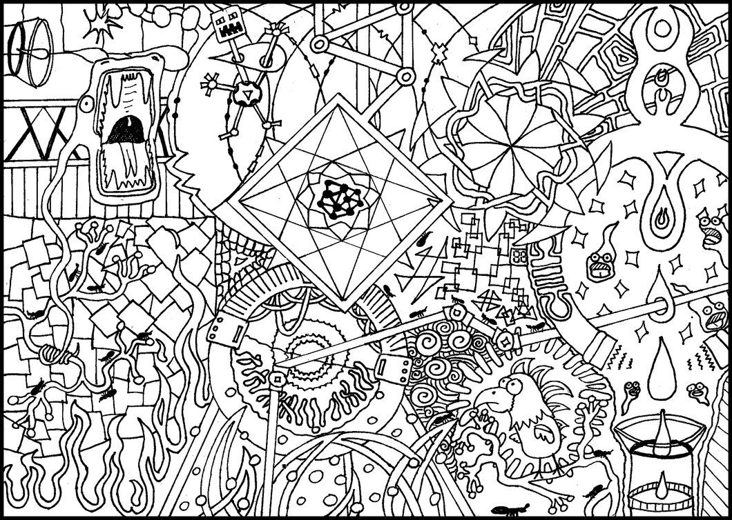 trippy coloring pages - Trippy Coloring Books