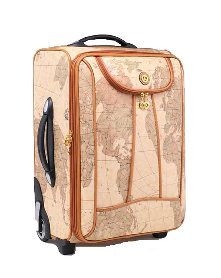 Vintage Style World Map Rolling Luggage Set by JKMCompany | JKM ...