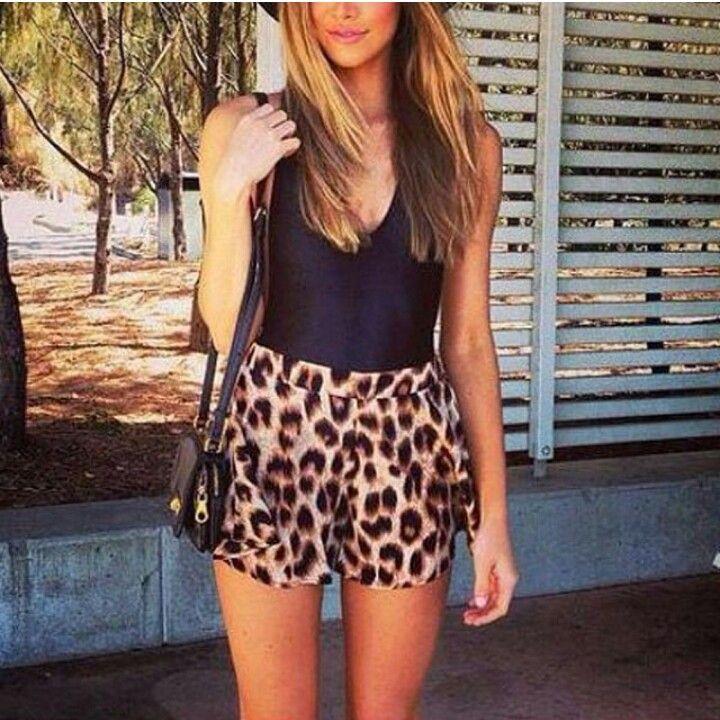Leopard shorts- www.thewildflowershop.com