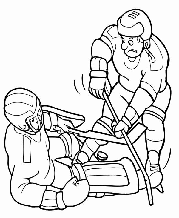 Hockey Player Coloring Page New Hockey Player Try To Get The Puck Back Coloring Page Netart Hockey Players Coloring Pages Hockey