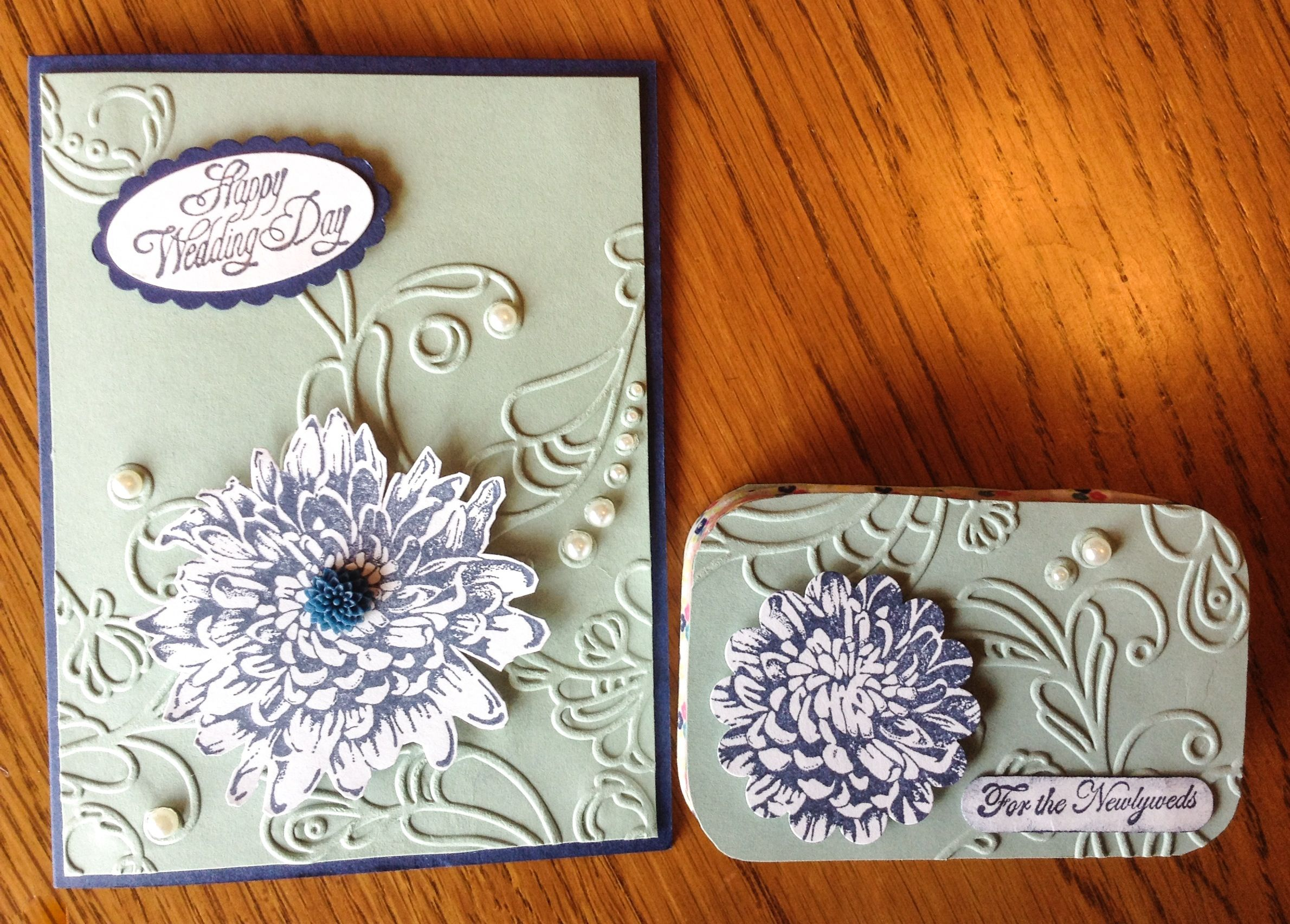 Wedding Card And Matching Gift Card Holder Made From An Old Altoids