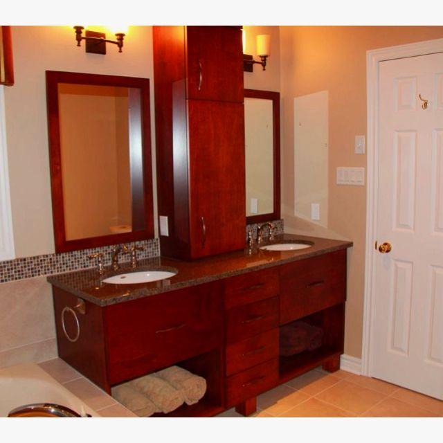custom bathroom vanity and matching mirrors built by www on custom bathroom vanity mirrors id=44848