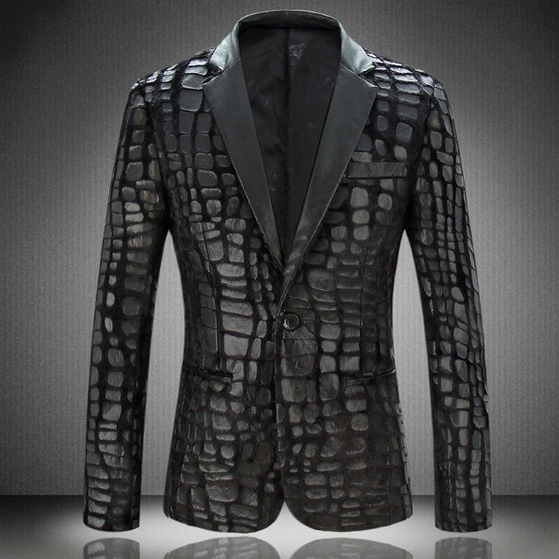 Aliexpress.com   Buy Fancy Night Sky City Print Mens Party Fashion Blazers  Italy New Style Notch Lapel Leisure Blazers from Reliable blazers soccer ... bc6178dae5a