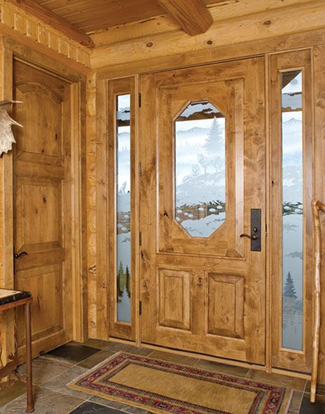 front door for log home | Interior Maintenace Questions, Answered ...