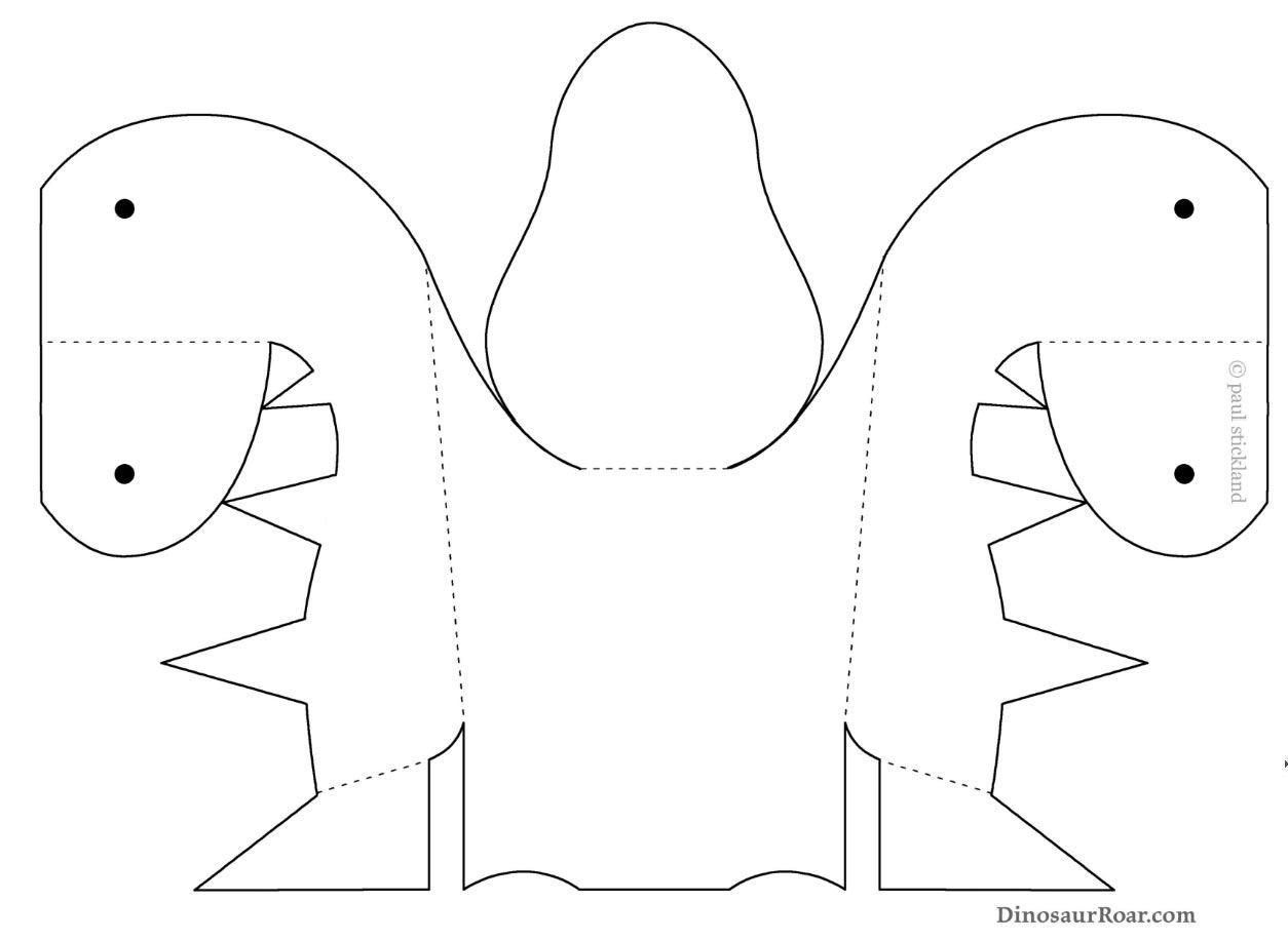 Moldes Para Fazer Mascara De Dinossauro Colorida De Papel