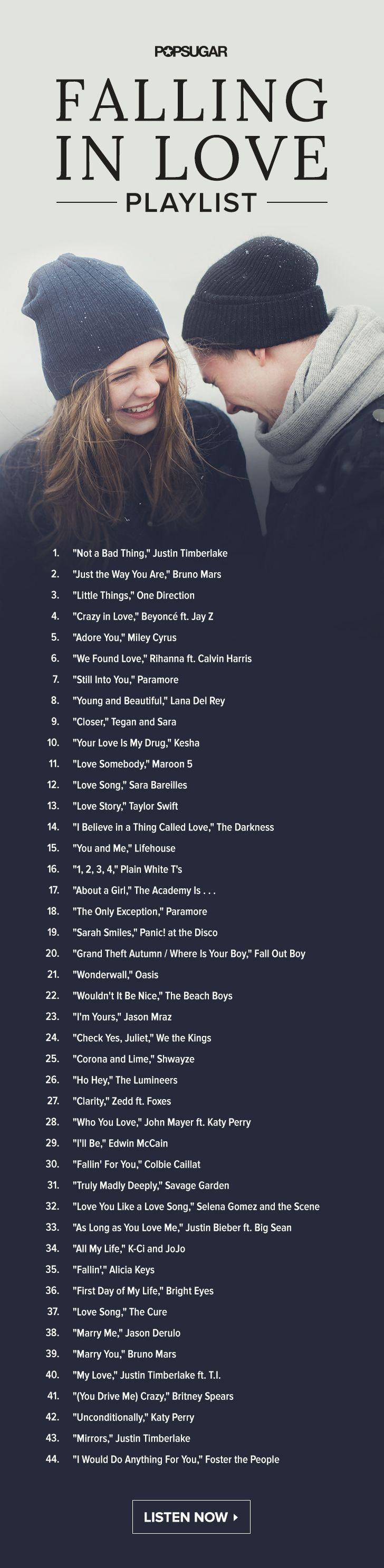 Falling in Love Playlist | wedding ideas | Pinterest | Playlists ...