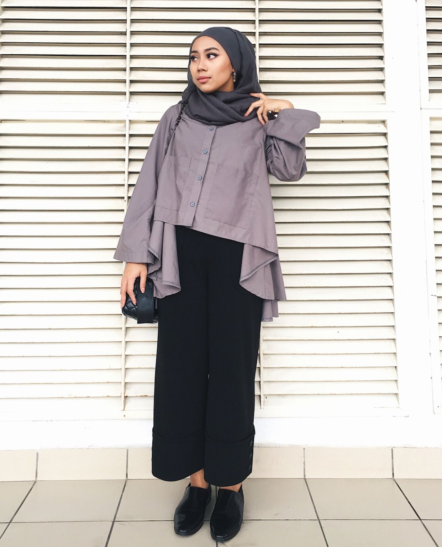 Pinned: @MrsRawabdeh  Model pakaian hijab, Model pakaian, Desain blus