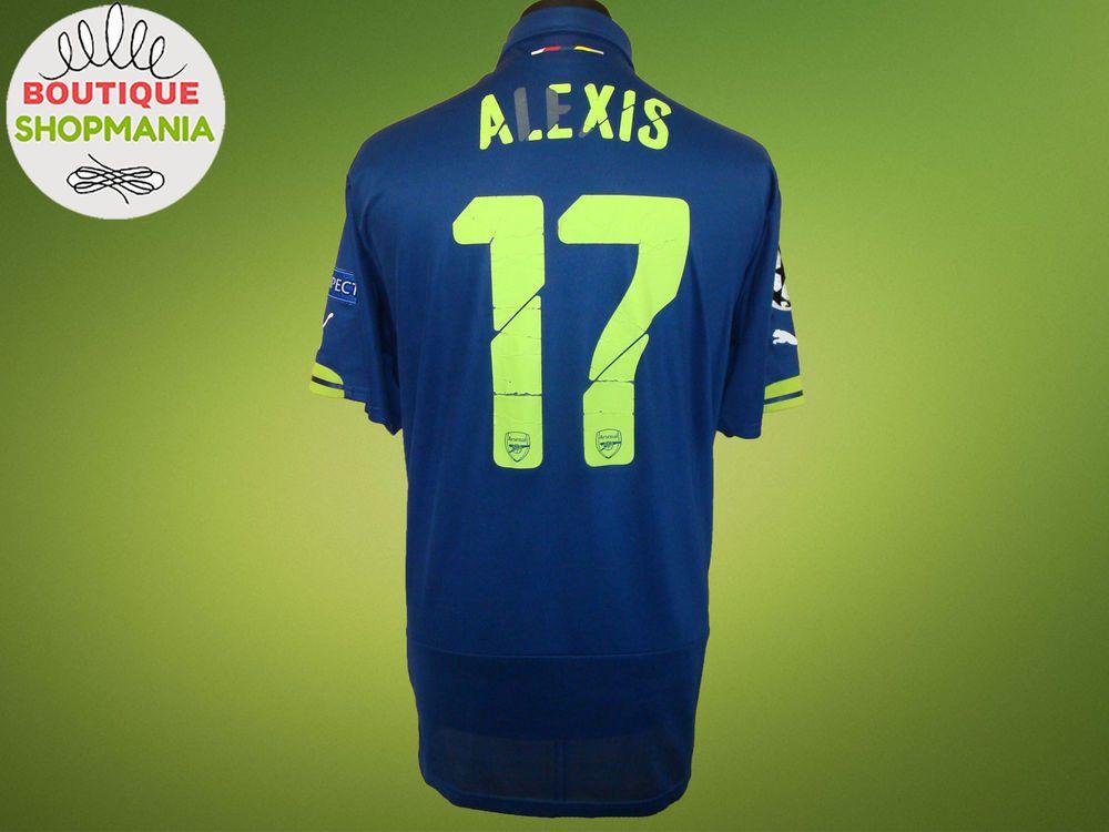 ARSENAL Third 2014-2015  17 ALEXIS (XXL) PUMA CUP FOOTBALL SHIRT Jersey  Camisa  Puma  ARSENAL cf798af2a