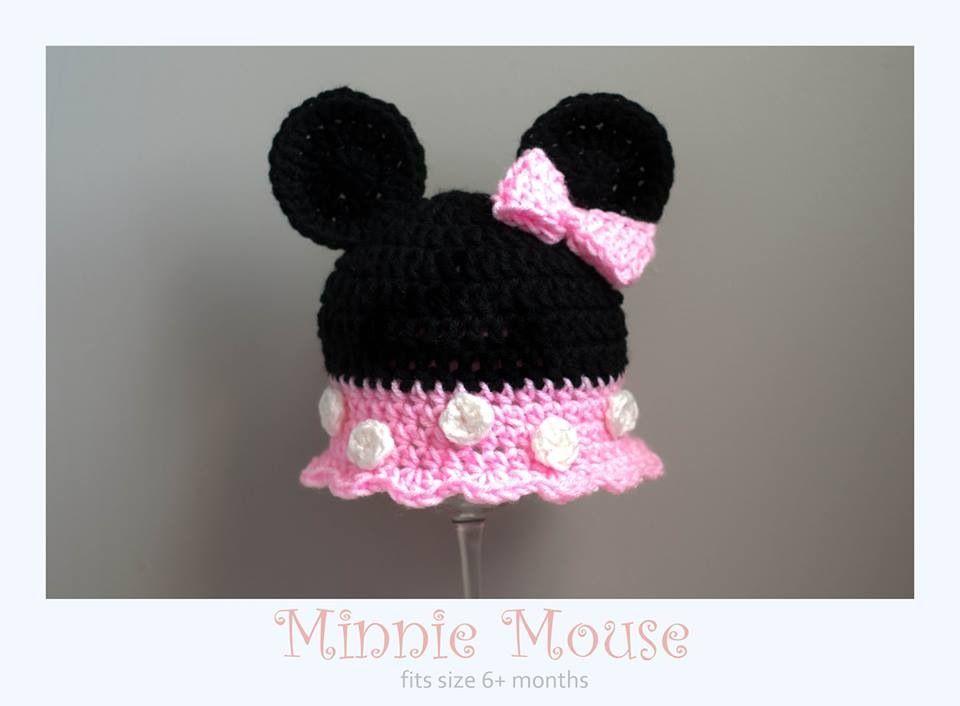Crochet Minnie Mouse hat Www.facebook.com/craftsbysheraya | littles ...