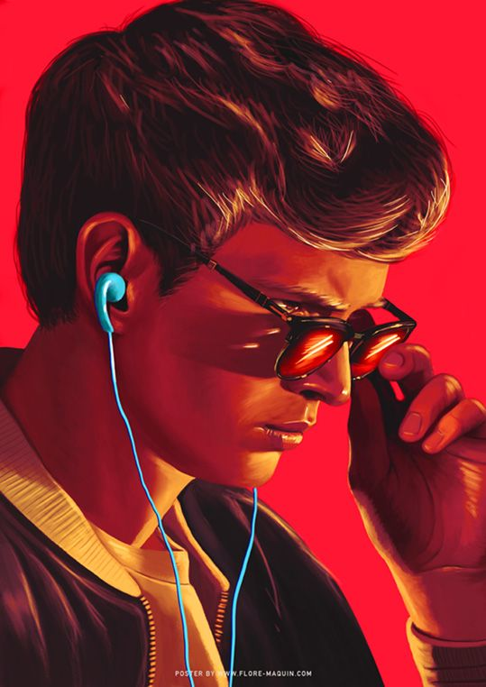 Baby Driver Flore Maquin Baby Driver Baby Driver Poster Alternative Movie Posters