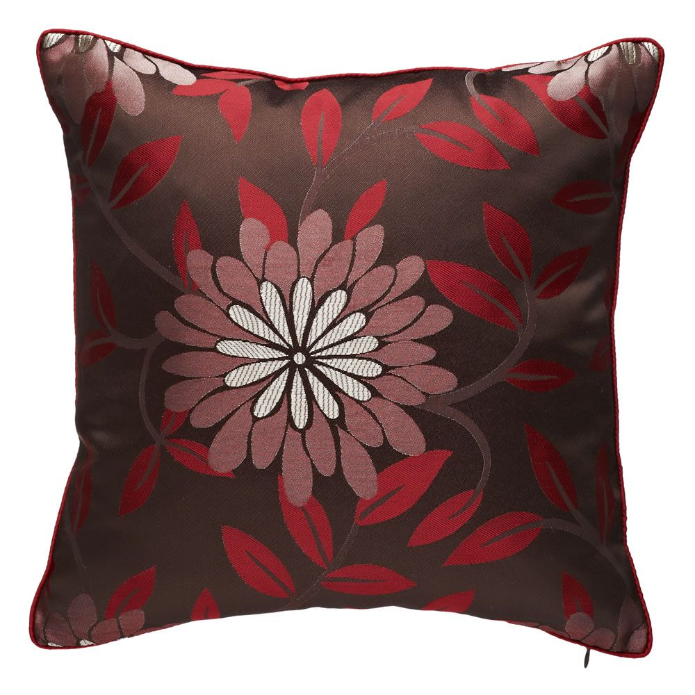 Matching red cushion