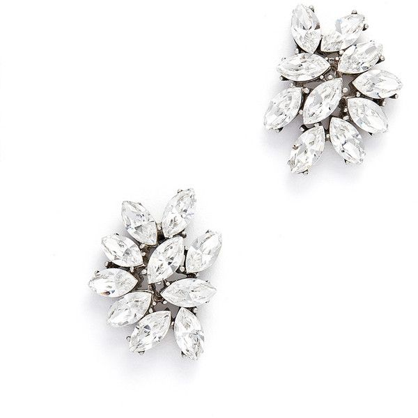 Ben-Amun Rental Ben-Amun Silver Cluster Studs ($30) ❤ liked on Polyvore featuring jewelry, earrings, silver, post earrings, silver earrings, ben-amun, silver post earrings and cluster jewelry