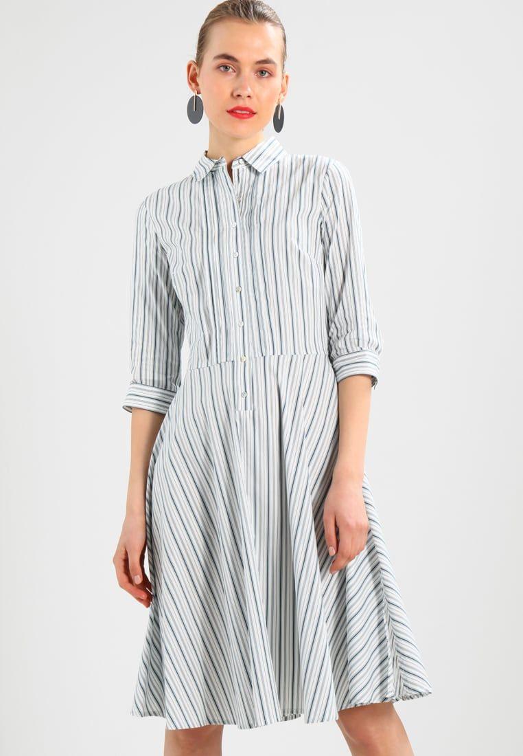 38cf2a38bd4e STRIPE FULL DRESS - Kjole - white blue   Zalando.no 🛒 in 2019 ...