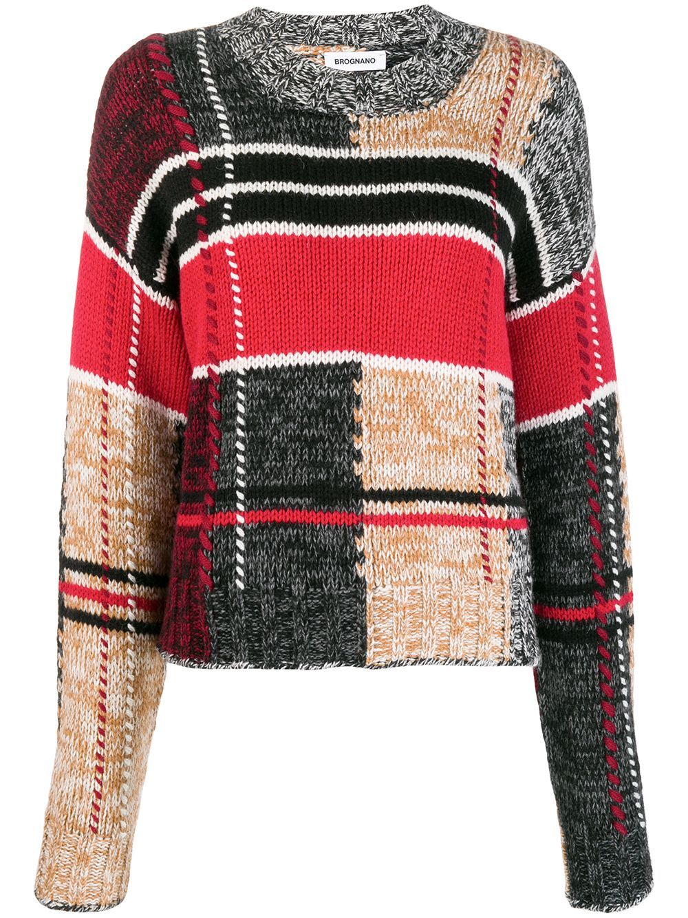 Brognano patchwork knit jumper - NEUTRALS
