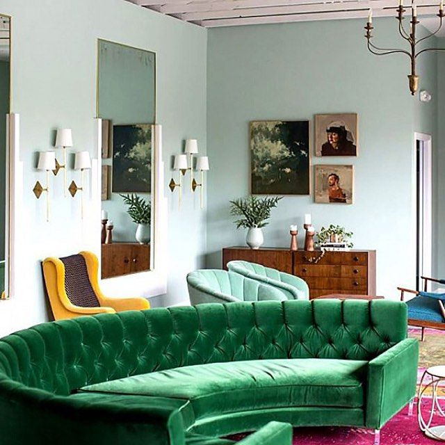 Mode Stories Canada On Instagram Living Quarters Looking A Little Basic Adesignlifestyle Rounds Up Amazing P Living Room Green Green Sofa Living Room Sofa #sage #green #and #navy #blue #living #room