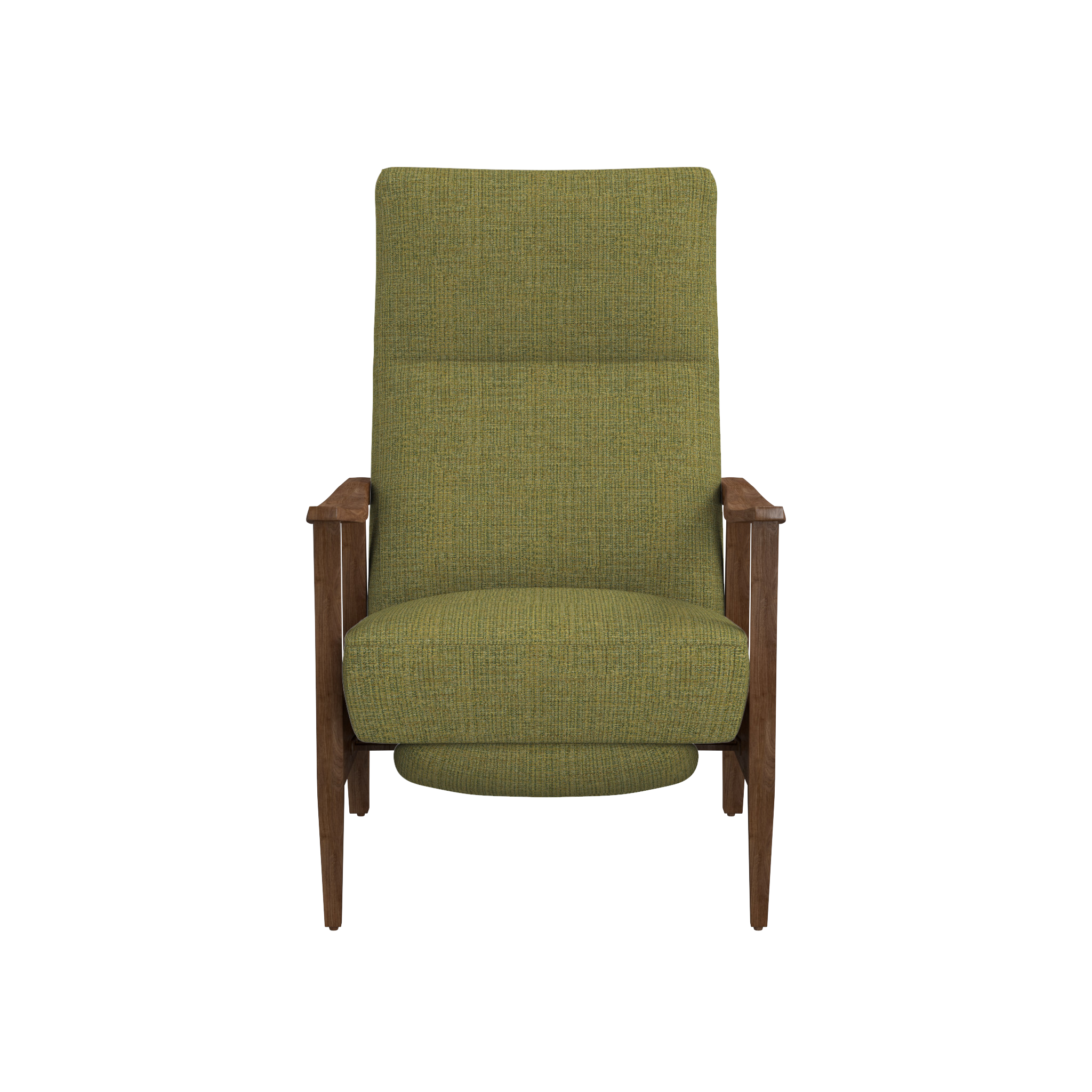 pop up recliner chairs luxury office melbourne greer fabric wood arm in 2018 funk it living room shop mid century this clean classic chair relaxes you back three position comfort with a deep angled seat cushioned headrest