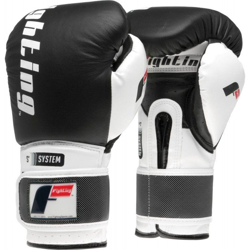 Fighting Sports S2 Gel Boxing Power Bag Gloves White//Black