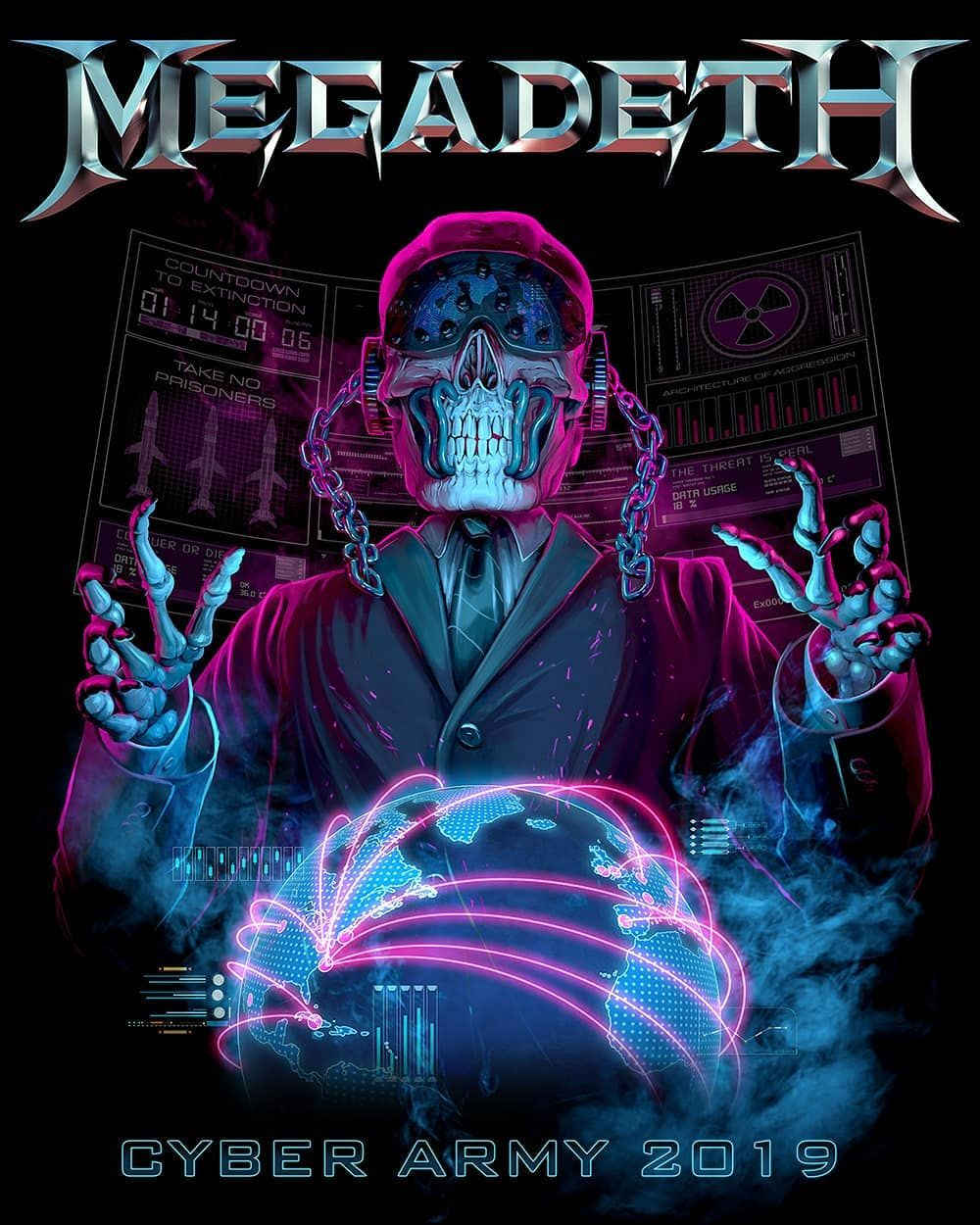 Megadeth With Images Heavy Metal Music Megadeath Metal Artwork