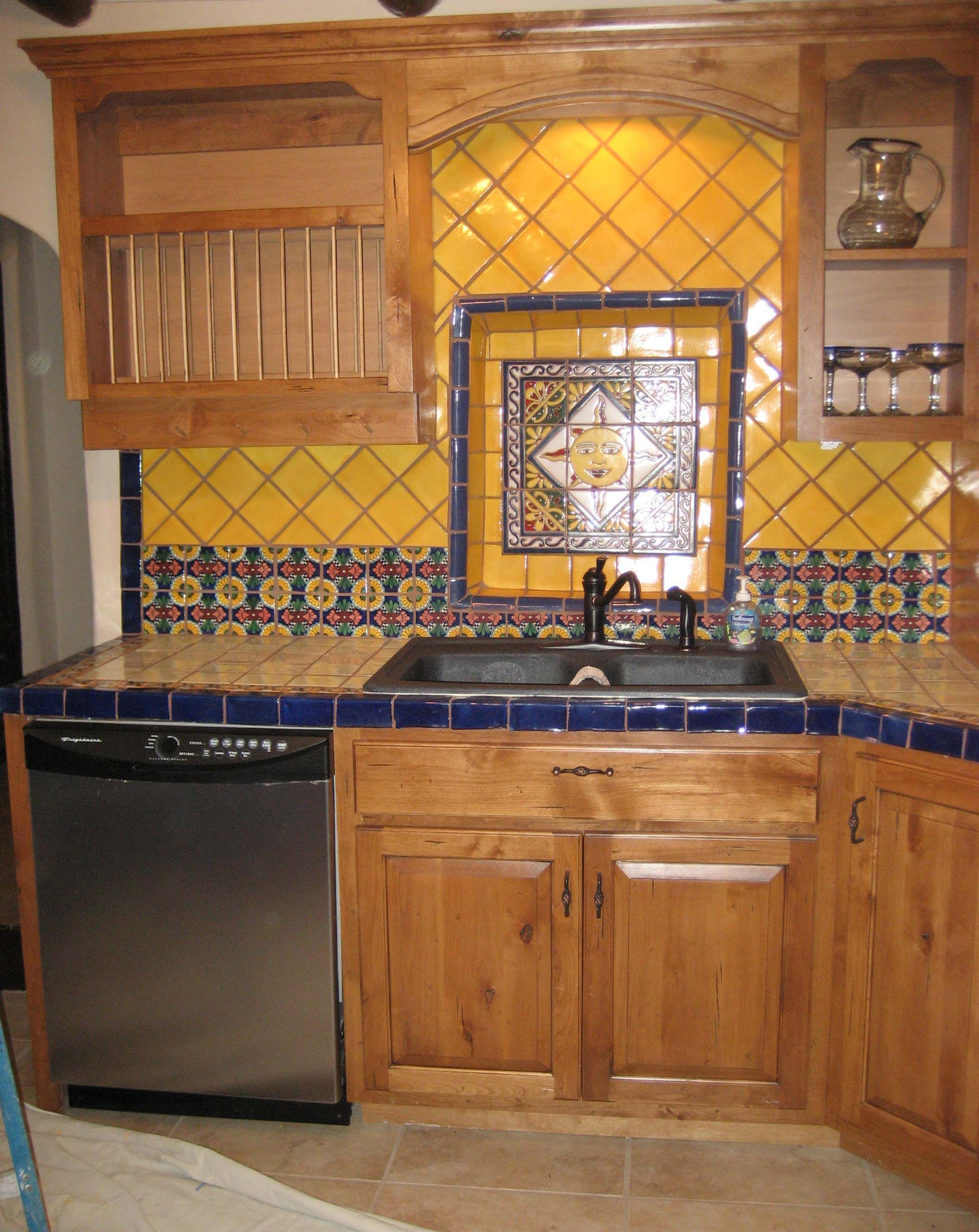 Kitchen Cabinets In Southwestern Style Built In New Mexico Mexican Style Kitchens Kitchen Cabinet Styles Kitchen Cabinets