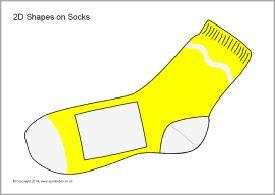 2D shapes on socks (SB10220) - SparkleBox