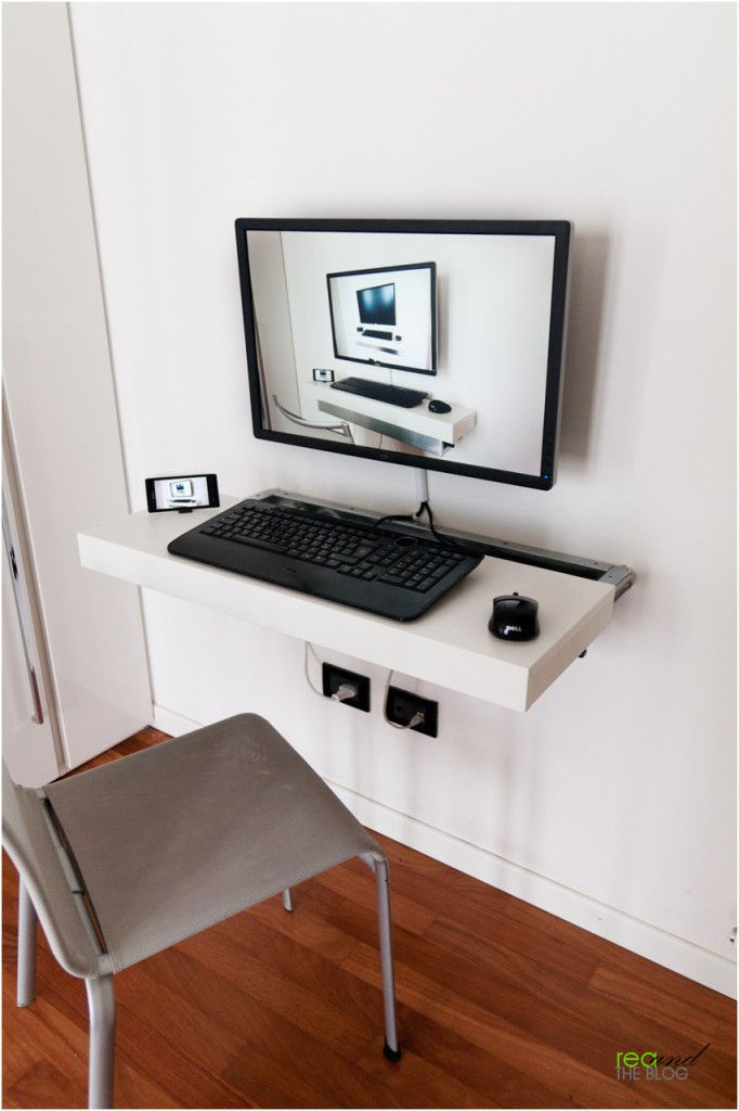Minimalist Floating And Sliding Desk By Ikea Floating Computer
