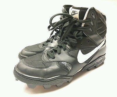 new product 5846e 43d0c Vintage Retro Nike Air Shark Football Cleats Men s Size 11.5 Black 920103LN2
