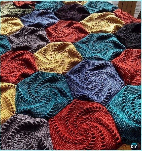 Free Pattern Bedspread In Hexagons Bedspread Free Pattern And