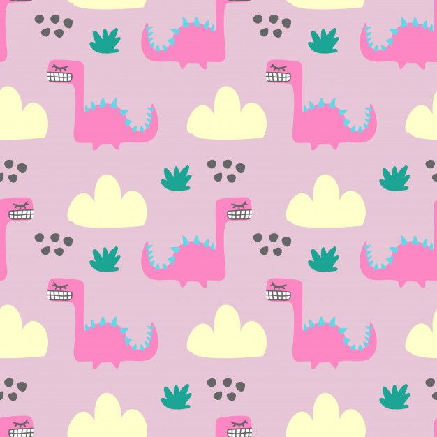 Seamless Colorful Fun Monster Animal Pattern For Children