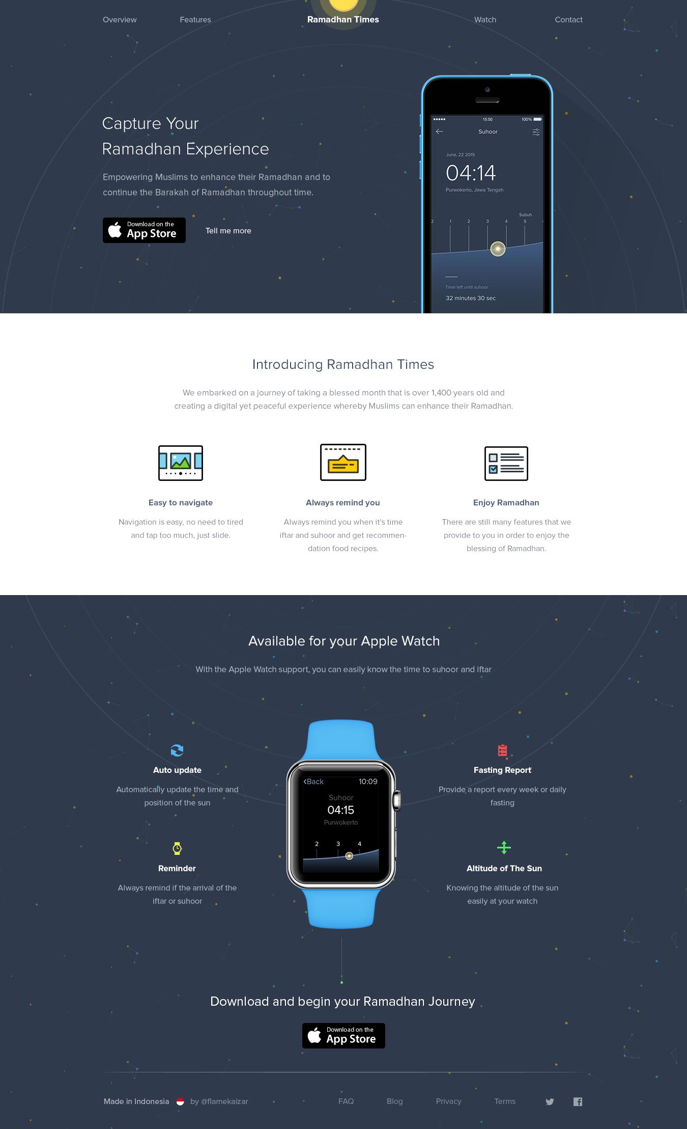 Ramadan Times Landing Page Png By Afnizar Nur Ghifari Mobile Web Design Web Layout Design Web Design