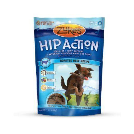 Amazon.com: Zukes Hip Action Natural Dog Treats Fresh Peanut Butter Recipe, 16-Ounce: Pet Supplies
