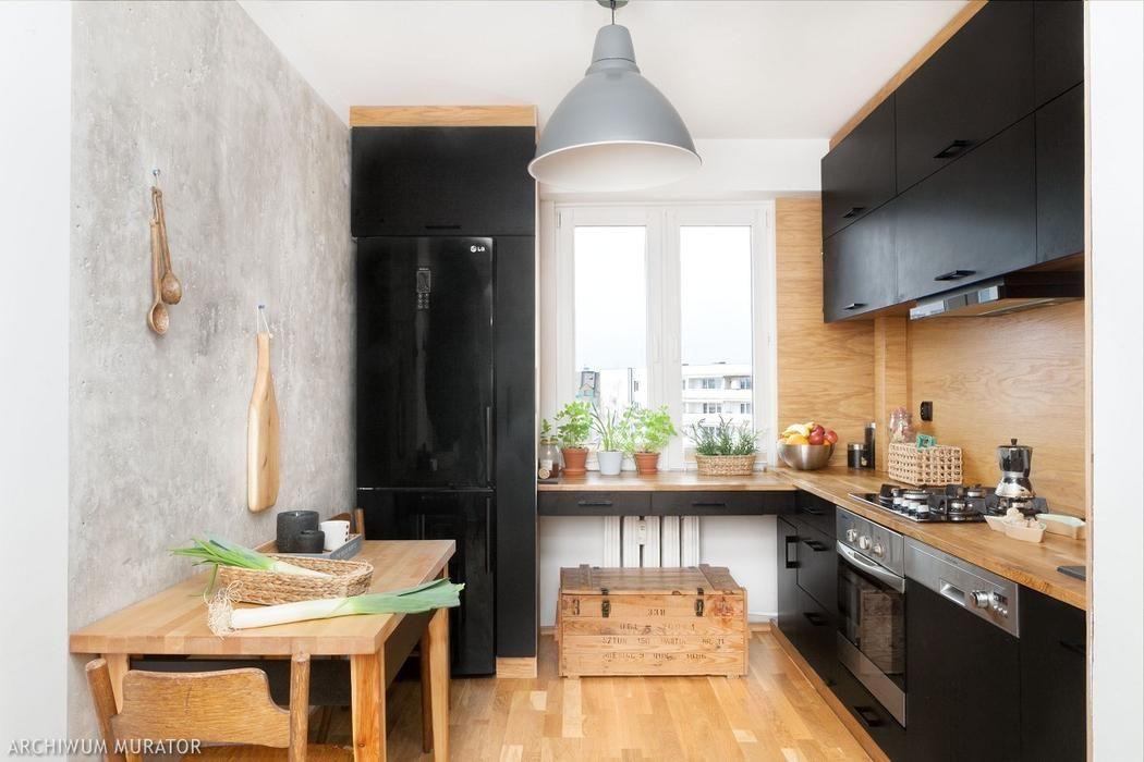 Czarna Kuchnia W Drewnie Best Kitchen Designs Kitchen Design Cool Kitchens