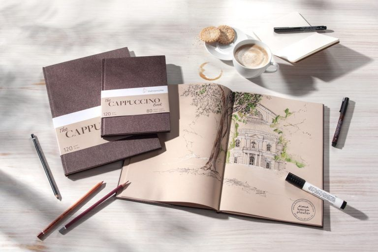 Hahnemuhle Hardcover Cappuccino Book A4 Blyant Skisseboker