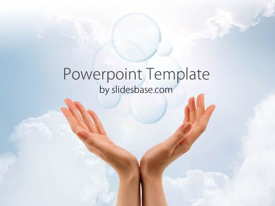 company-vision-future-sky-hands-dream-prediction-forecast-fortune - 3d powerpoint template