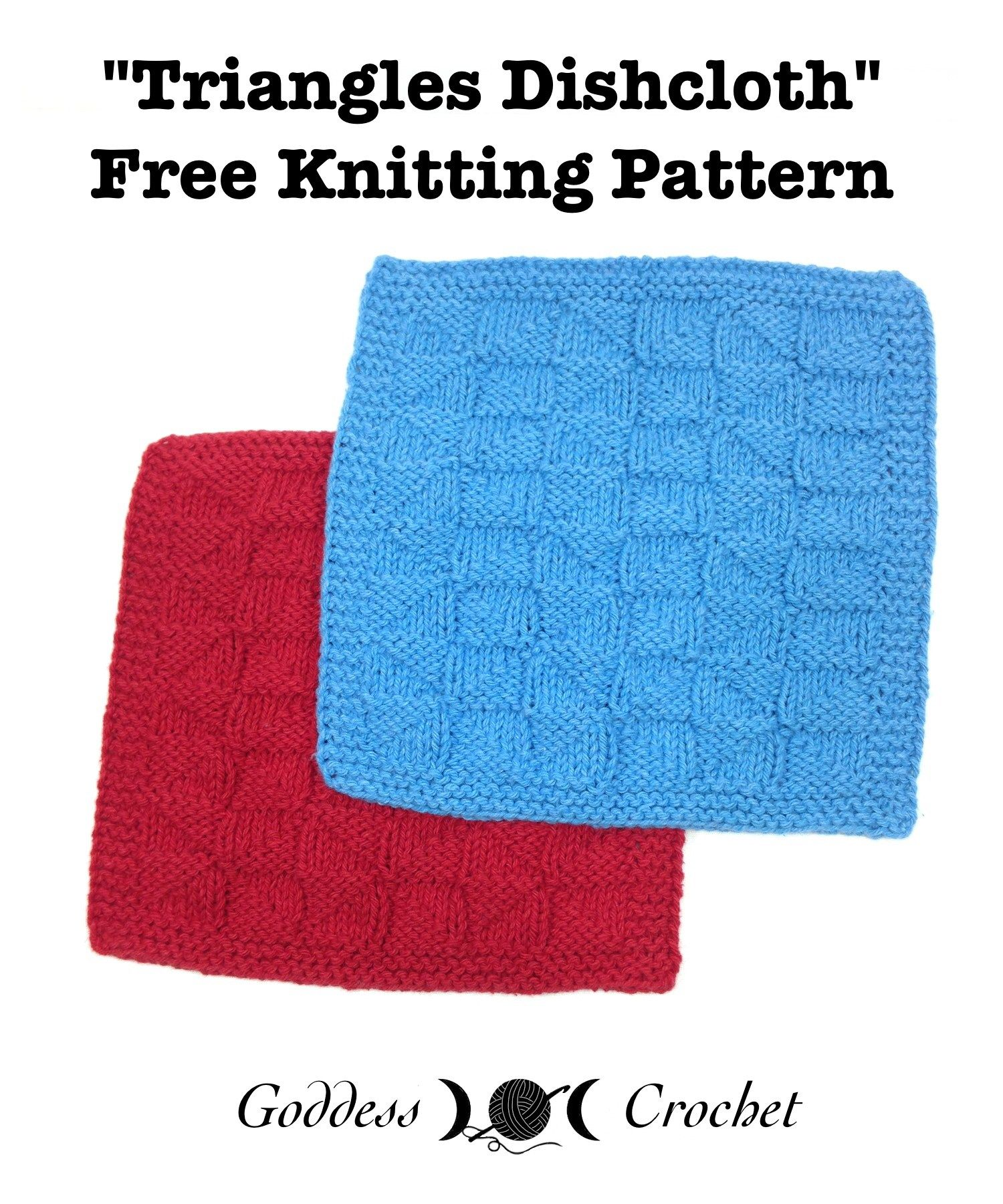 Triangles Dishcloth – Free Knitting Pattern | Dishcloths, Facecloths ...