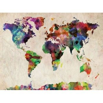 World map urban watercolor i have to have this really cool world map urban watercolor i have to have this gumiabroncs Gallery