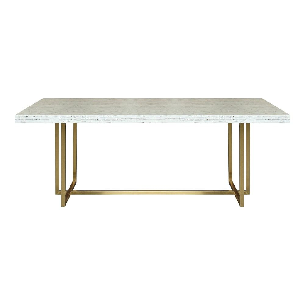 Armen Living Fenton Contemporary Corner Nook Gray Dining Table Gold Dining Table Concrete Dining Table