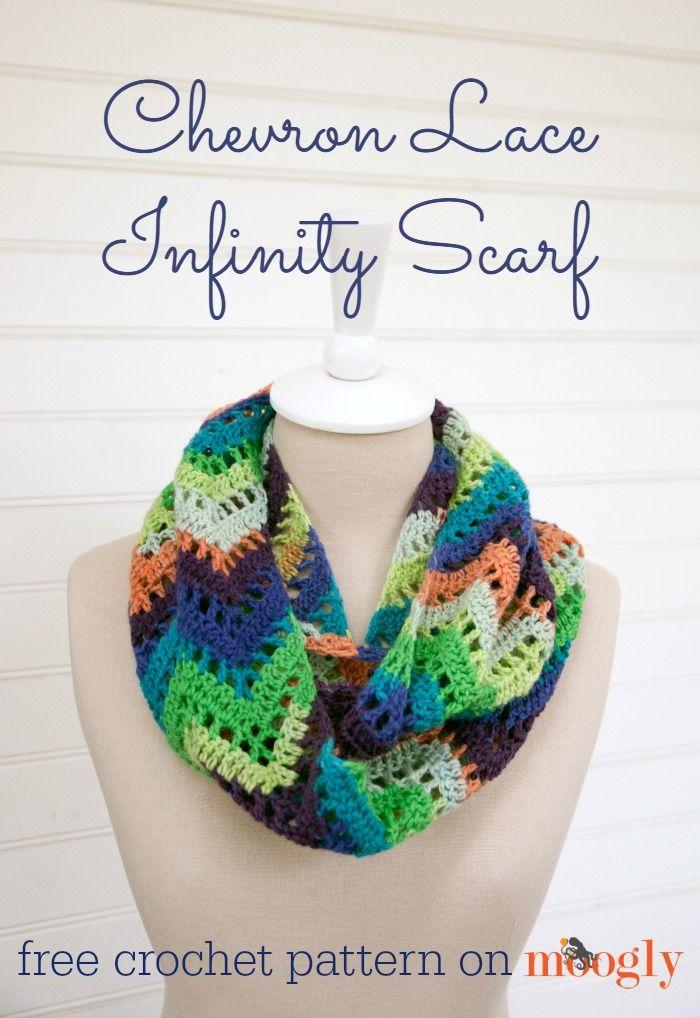 19 Pretty Crochet Scarves | Tejido, Bufandas infinito y Patrón de ...