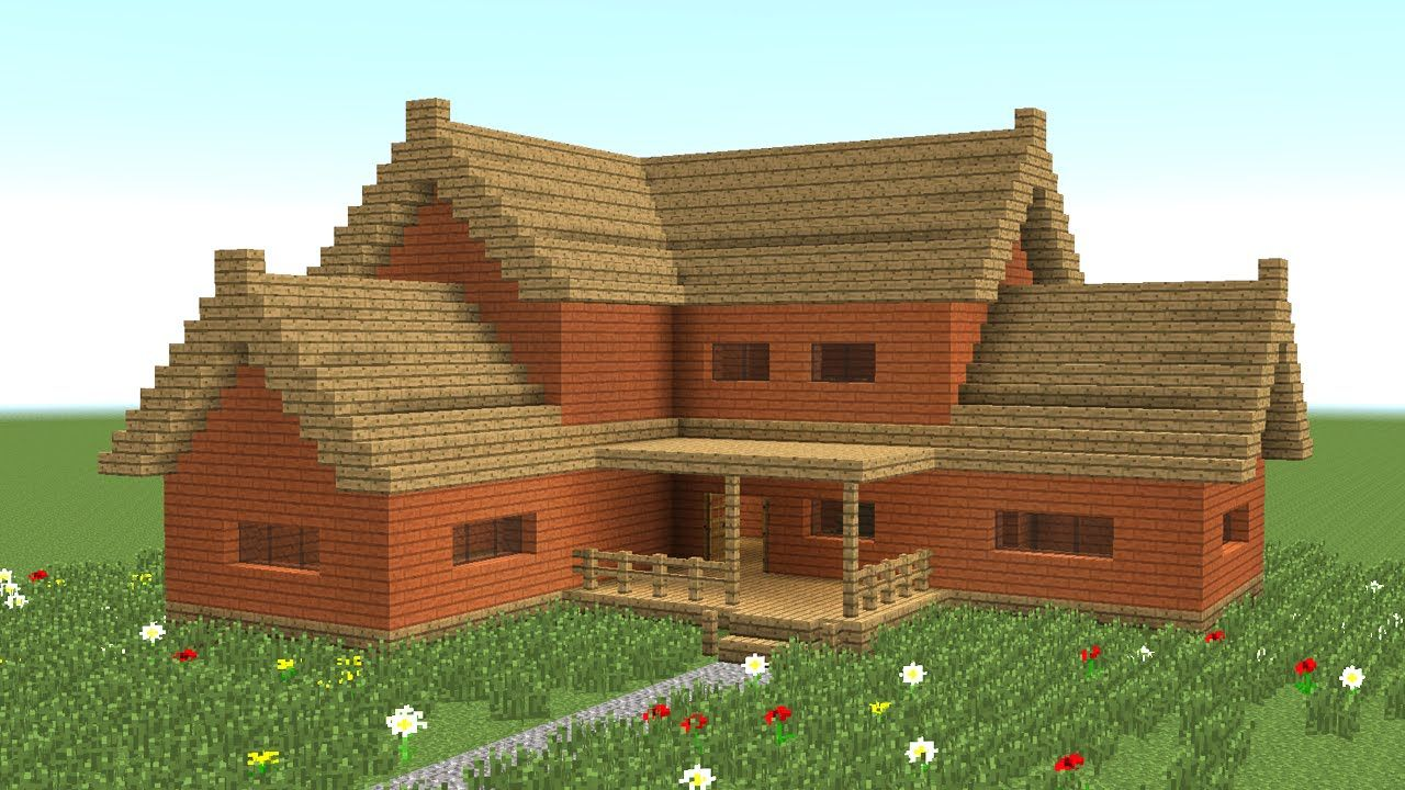 MINECRAFT: How to build big wooden house #3 … | Minecraft | Minec…