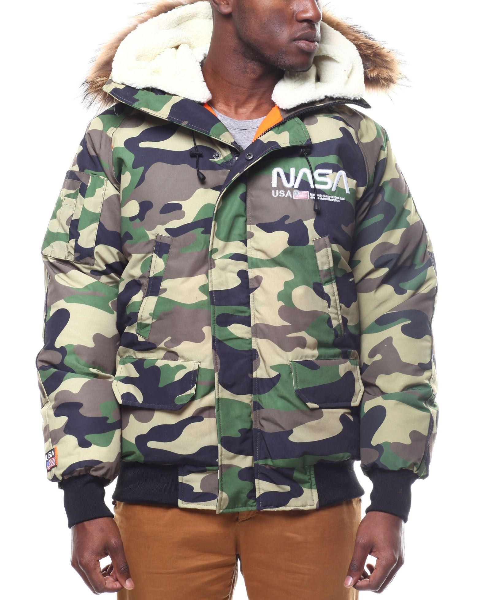 Nasa Fur Hood Bomber Jacket from Hudson NYC at