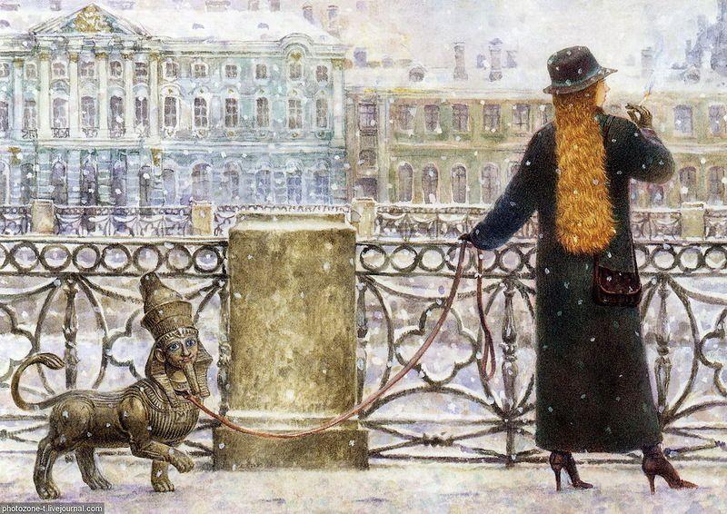 Vladimir Rumyantseb. Cats of Saint-Petersburg.