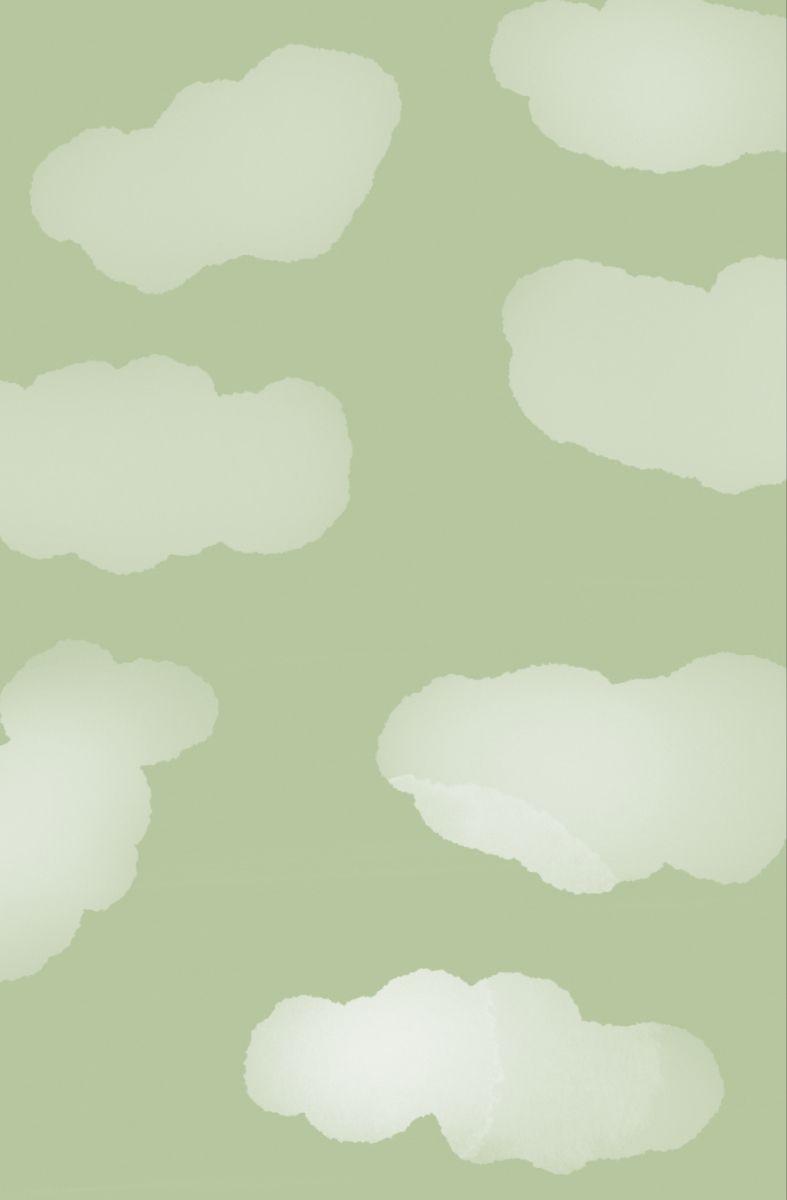Sage Green Clouds Wallpaper In 2021 Sage Green Wallpaper Green Wallpaper Iphone Wallpaper Green Aesthetic mint green clouds wallpaper