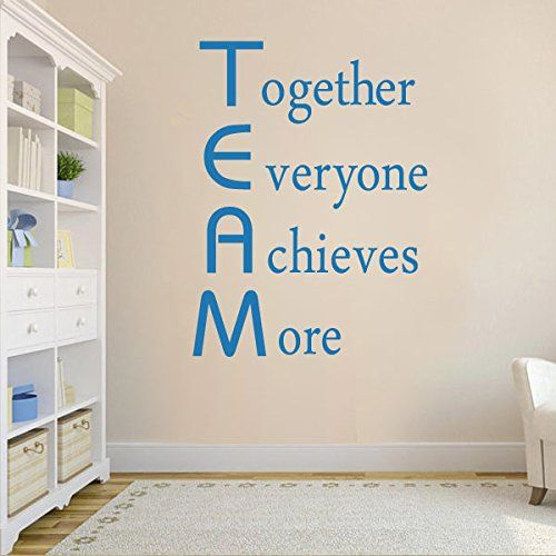 Together Everyone Achieves More Inspirational Wall Decal Vinyl